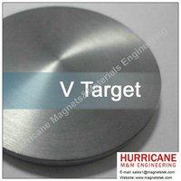 V Sputtering Target for depositing thin film PVD CVD coating hard and solar coatings Vanadium targets from magnetstek