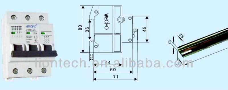 Disjoncteur miniature vdfb1-63 1p