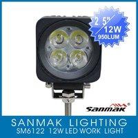 одна пара 12w рабочий свет, светодиодные sm6122 высокой интенсивности света водить грузовик работы