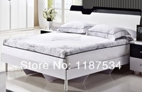 Кровать A020 luxurious double comfortable bed white high gloss wooden frame modern bed bedroom furniture