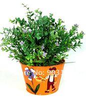 металлический цветок печатных металлические ведра, Крытый цветочные горшки, цветочные горшки, металла сад декор sx50350e-gooday Хоум Депо