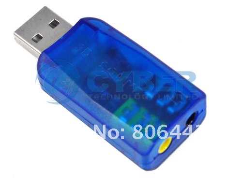 NEW 5.1 CH USB 2.0 3D Audio Sound Card Adapter for PC Notebook Green new freeshipping dropshipping