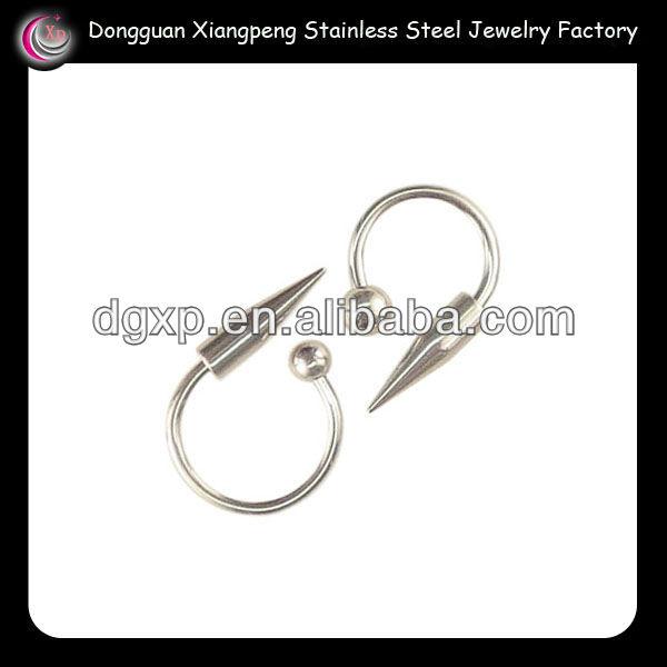 12 gauge surgical steel fake eyebrow piercing