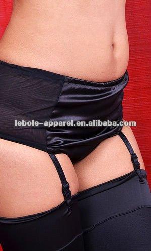High-Waist Pure Satin Girl sexy image Panties