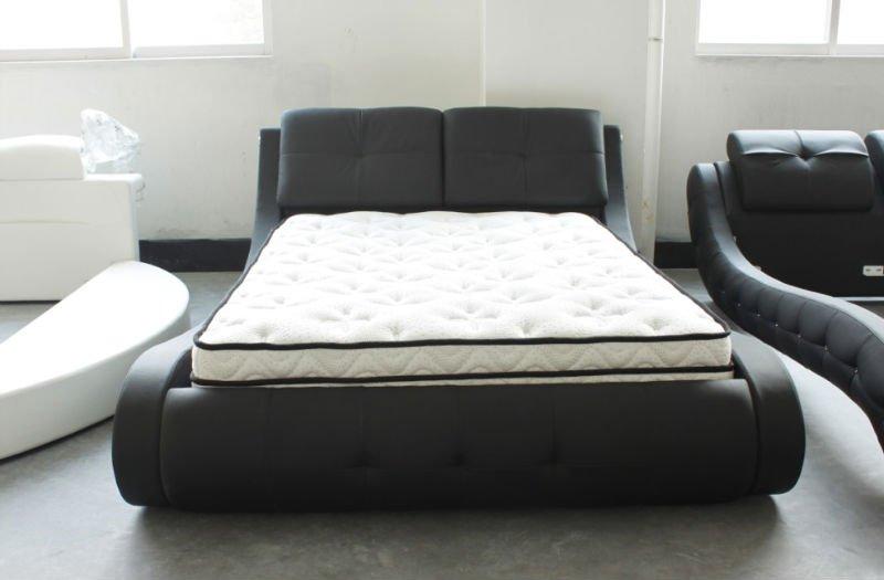 Golden Leather Bed : Golden New Design Black King Size Leather Bed - Buy Black King Size ...