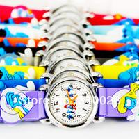 , 10шт мультфильм детей дети мальчики девочек мода случайные силиконовые кварцевые рождественских подарков наручные часы, c14