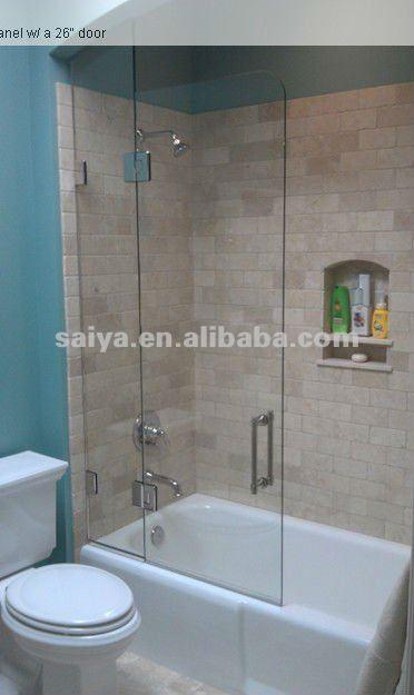 De pared ba o cristal a cristal bisagras protecci n del - Puertas de cristal para duchas ...