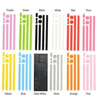 Стразы для мобильных телефонов 1/12 Colors Cut-Out Frosted Bumper Home Button Sticker Decor Fit For iPhone 5 5G CM244
