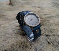 Наручные часы Blue Handmade Unisex Vintage Oracle Cow Leather Wrist Watch Couple's Gift