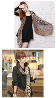 Женский шарф Sexy Women's Silk Wrap Shawl Scarves Silky Soft Retro Classic Leopard Shade Faux DropShipping