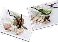 Цепочка с подвеской 18k gold plated rings pendant necklace