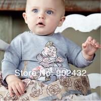 Новые девушки младенца monnalisa платье с «так счастлива» печати для 6-36 месяцев, дети платье 398901