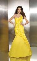 Платье на выпускной Custom Made 2012 Summer Ruffle Mermaid Dress Removable Strap Prom Gown Dresses