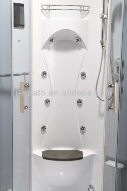 J-SPATO Corner entry aluminum frame complete bathroom set