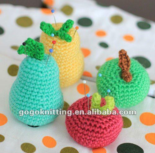 2017 mode Vacances cadeaux apple poire citron laine BRICOLAGE fruits  pelotes crochet kit