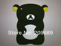 Free Shipping! 1pcs New design 3D Rilakkuma Relax bear cartoon silicone Case Cover for iPad Mini