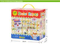 Детский набор доктора 36small pcs/lot ABS plastic childrens doctor kit stethoscope set artificial medical box anatomised educational toy