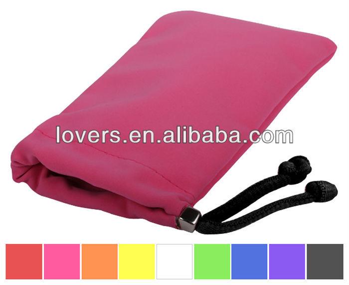Personnalisé téléphone cellulaire sac pochette velours couverture de téléphone