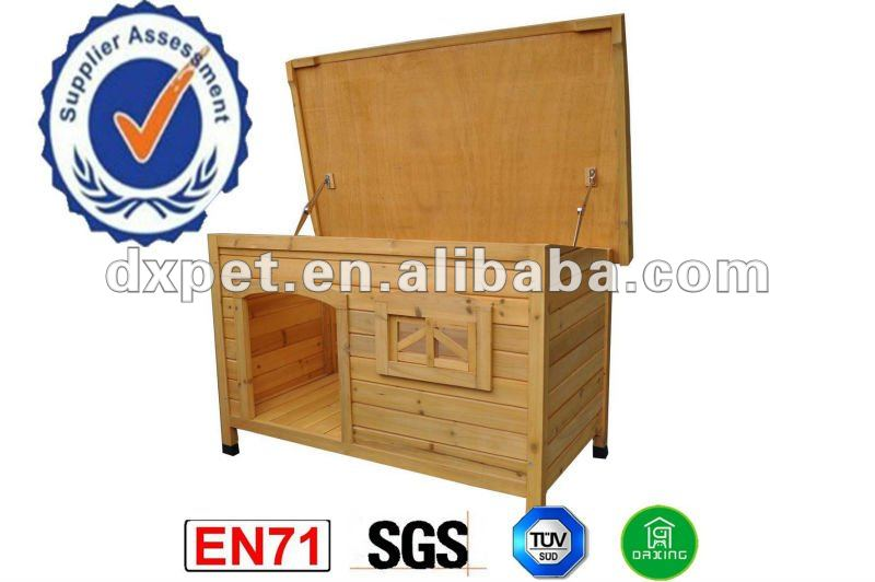 wooden outdoor waterproof dog kennel cage DXDH001