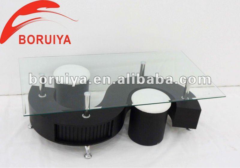 S 모양 유리 커피 테이블 현대 커피 테이블-커피 테이블 -상품 ID ...