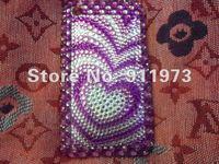 Чехол для для мобильных телефонов 10pcs/lot 2012 Luxury Diamond Love Shaped Bling Rhinestone Crystal Hard Case For iPhone 4/4s