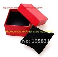 85 * 85 * 60 мм черный смотреть коробка для упаковки часы ювелирные изделия, модные часы случае коробка с подушки 12pcs/lot