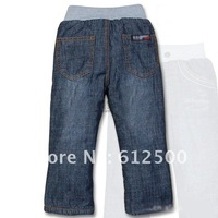 Wholesale Free shipping brand thick winter warm cashmere kids pants Boys children jeans baby jeans (SL1154-1)