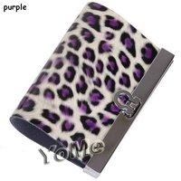 Ключница 2012 Hotsale GENUINE LEATHER pink leopard key wallet/purse/holde, gifts, KP003