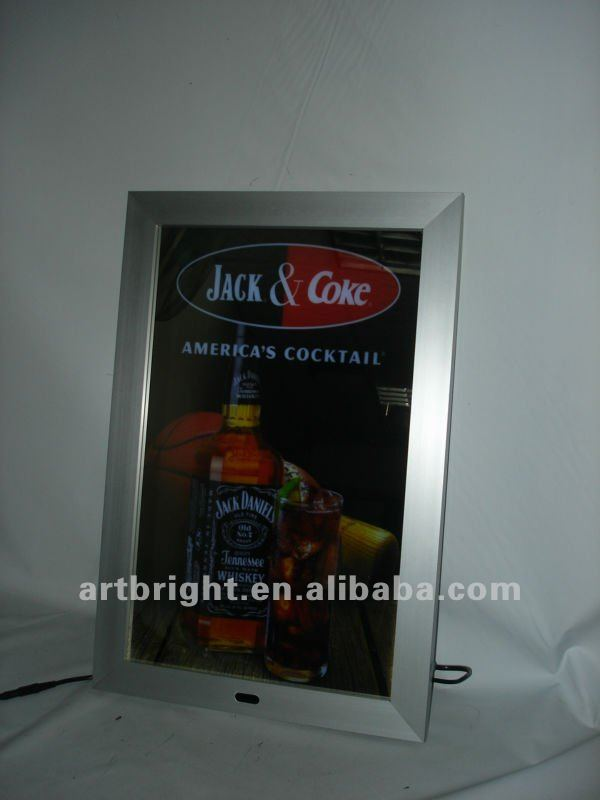 Led Advertising magic mirror light box with sensor