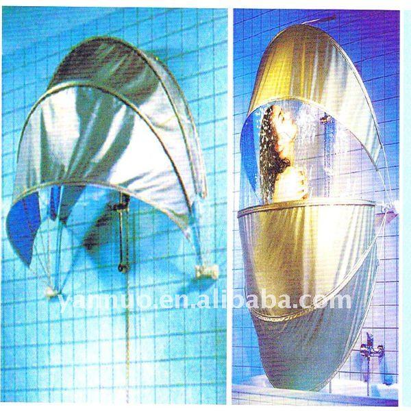 Guarda-chuva cortina de chuveiro cremalheira, Dobrável cortina de chuveiro cremalheira