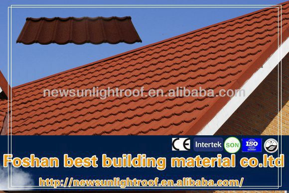 Metal Roof System Sand Coated Steel Roofing Villa Roof
