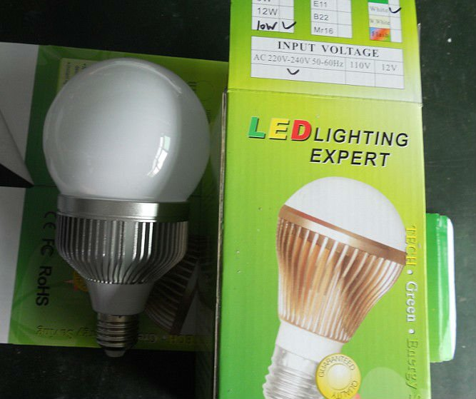 dimmable 10*1W LED bulb,AC85-265V input, warm white or cool white;around 1000lm