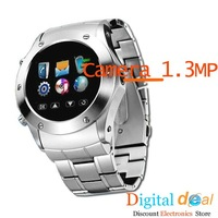 Мобильный телефон New W968 Stainless Steel Watch Mobile Phone with 1.3MP Camera Touch Screen Bluetooth MP4 and FM Radio