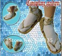 Женские сандалии 1 pair COSPLAY BLEACH STRAW SANDALS SLIPPER SHOES + SOCKS