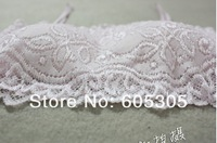 Womens dress Candy color all-match necessary Korean full lace half cup cute wrapped chest tube top Free Shipping