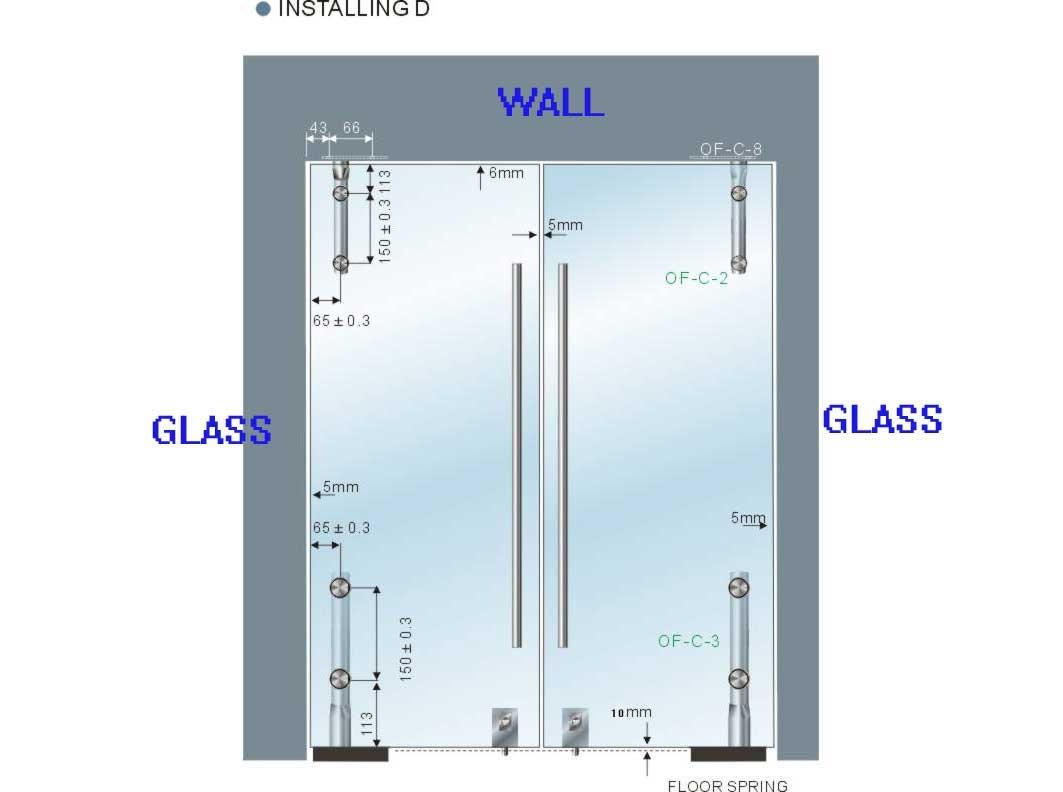 Alta calidad de seguridad templado vidrio templado puertas - Puertas correderas de vidrio templado ...