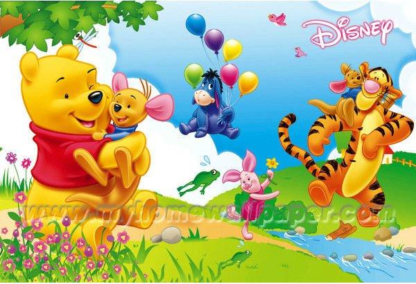De dibujos animados de animales murales de pared para los for Bebes disney jardin
