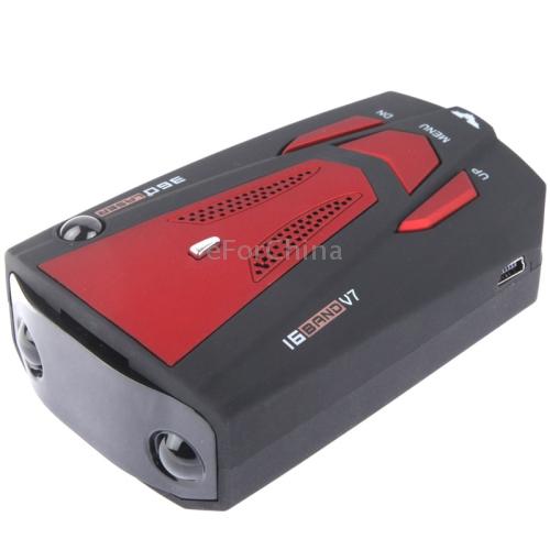 Специализированный магазин Red High Performance 360 Degrees Full-Band Scanning Car Speed Testing System Detector Radar Built-in Russian Voice Broadcast
