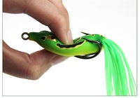 New Arrival,3 color 6cm/13g classic high quality VMC hooks Soft Rubber frog bait lures,Soft lures,20pcs/lot Free shipping
