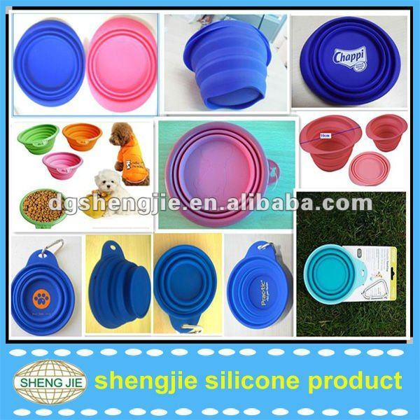 silicone eco dog bowl foldable to travel