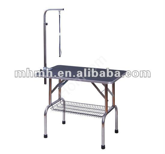 Foldable Portable Pet Dog Grooming Table With Arm Noose Storage Basket