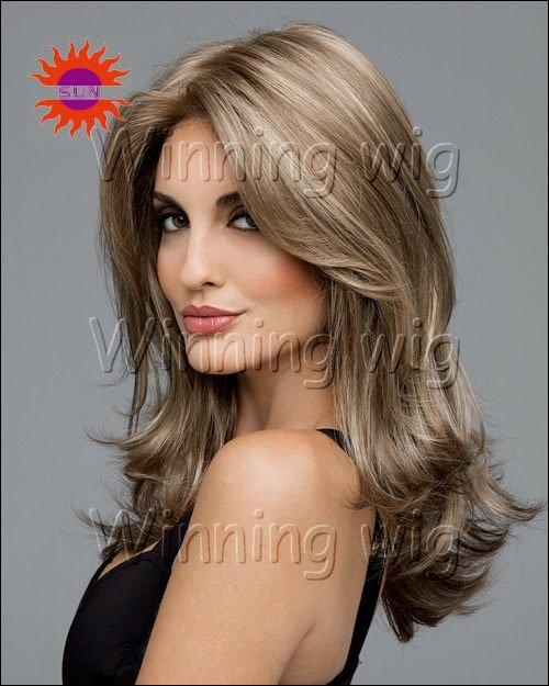 Dark Ash Blonde brazilian natural wave kanekalon fiber synthetic hair