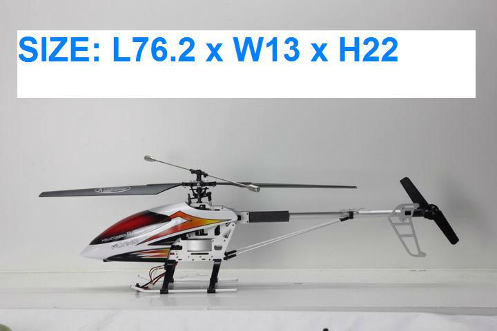 4ch rc helicopter single blade 2.4G with GYRO with Servo control system (76.2CM)