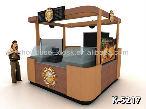 indoor food kiosk,snack and coffee booth with design for sale
