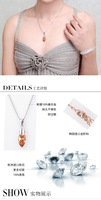 Колье-цепь Raindrop -shaped crystal necklace sweater chain long necklace production