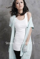 NEW Free Shipping Candy Colors cotton Women's Casual Solid H back vest dress Y2476