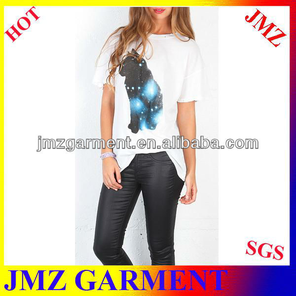 Hot sale t-shirt korea design