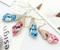 Ювелирный набор Best gift TOP GRADE made with Swarovski element CRYSTAL pendant necklace earrings Jewelry Set ship
