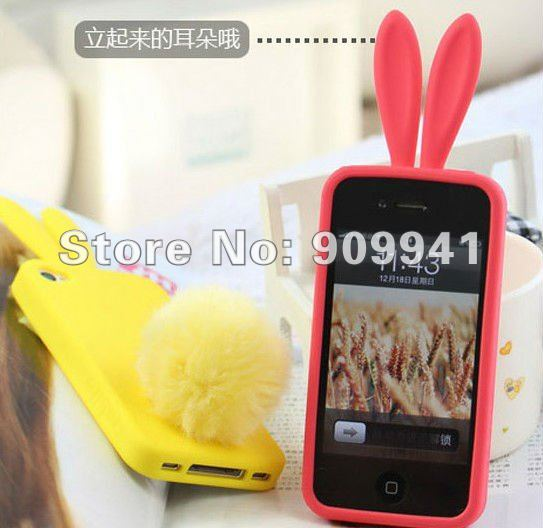 Lovely Rabito Silicon case for iPhone 4 4s (6)