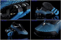 2013 Men running sport shoes sixth generation leather mesh rubber spring elasticity quake-proof sole shock absorption us7-us12